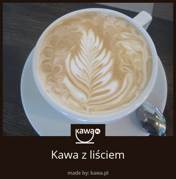 Kawa z liściem